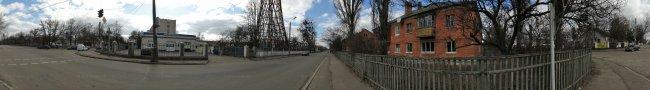 Панорама Белой Церкви: Перекресток ул. Первомайская и ул. Логинова